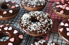 Oven baked Wheat, Gluten and Dairy free chocolate doughnuts