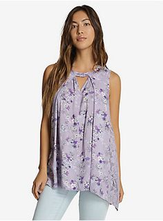 """If you're going somewhere where a seashell bra isn't appropriate attire, don't fret. We've got this gorgeous lavender top that will show off your mermaid style! It's got an allover Ariel and floral print, and lace side panels.<div><ul><li style=""""list-style-position: inside !important; list-style-type: disc !important"""">Shell 1 100% rayon; Shell 2 90% nylon; 10% spandex</li><li style=""""list-style-position: inside !impor..."""
