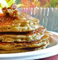 • Oatmeal Pancakes - added cinnamon, used 2 instant brown sugar cinnamon oatmeal packets instead of instant oats, and didn't blend the ingredients