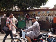 Man on moped, Edfu, Egypt