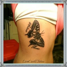 Tattoo Mariposa Por LionCastleTattoo
