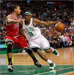 May 2, 2009: Celtics beat Bulls 109-99 in Boston The Bulls were within three with just over five minutes to play, but the Celtics closed with a 20-13 run to clinch the first-round series. Ray Allen scored 23 points and Paul Pierce had 20 to lead the Celtics.