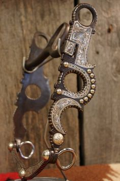 Silver mounted bit with Crescent from High Country Cowboy Company