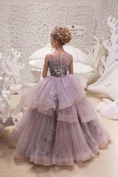Items similar to Gray and Pink Flower Girl Dress - Birthday Wedding Party Holiday Bridesmaid Flower Girl Gray and PinkTulle Lace Dress on Etsy Flower Girls, Pink Flower Girl Dresses, Little Girl Dresses, Girls Pageant Dresses, Bridesmaid Flowers, Bridesmaid Gowns, Prom Gowns, Lace Corset, Birthday Dresses
