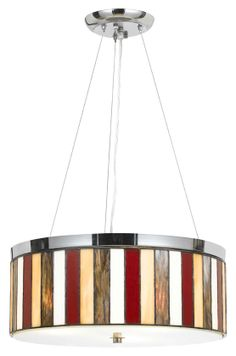 Shop for Red and Clear Glass Chrome-finish Tiffany-style Pendant Fixture. Get free delivery On EVERYTHING* Overstock - Your Online Ceiling Lighting Store!