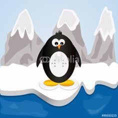 #acqua #acquatici #animali #antartide #becco #buffi #freddo #ghiaccio #illustrazione #montagne #neve #pinguino #pinne #piume #uccelli #uccelliacquatici #volatili
