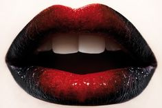 red-black lipstick. I would die if I found out how to do this.