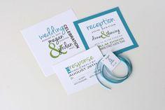 Fun Unique Modern Wedding Invitation Suite Wedding Invite Erika Design - DEPOSIT to get started
