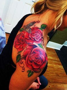 Tattoo Roses on Shoulder – Jayme Goodwin Art