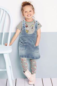 Buy Denim Pinafore, Top And Tights Three Piece Set (3mths-6yrs) online today at Next: United States of America