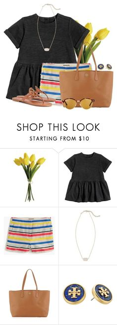 """I feel like I've lost my touch for making sets"" by flroasburn ❤ liked on Polyvore featuring J.Crew, Kendra Scott, Tory Burch and Ray-Ban"