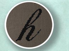 Lowercase h. Cross Stitch PDF Pattern by andwabisabi on Etsy