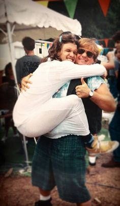 """wheelsoffury: """" Shannon Hoon from Blind Melon with Chris Farley at Woodstock 94 """""""