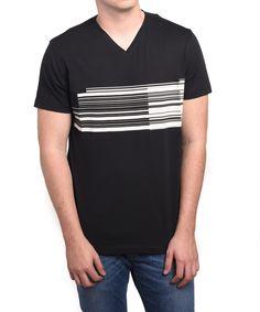 ERMENEGILDO ZEGNA Z Zegna By Ermenegildo Zegna Men Graphic V-Neck T-Shirt Black White'. #ermenegildozegna #cloth #t-shirts