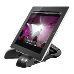 Stand per iPad, Tablet con Altoparlanti Stereo Bluetooth e AUX