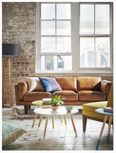 love love love this brown leather couch