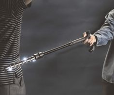 Give any would be attacker the shock of a lifetime when you surprise them by defending yourself with the stun gun walking stick. This seemingly inconspicuous cane features an ultra bright led flashlight and a million volt stun gun tip that'll stop any attacker dead in his tracks.