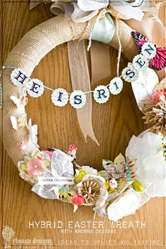 I SO need to make this for Easter this year! He is risen wreath by robindu