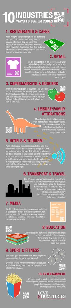 INFOGRAPHIC: 10 Industries,10 ways to use #QRcodes. @qr_france