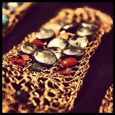 Jeweled bracelets.