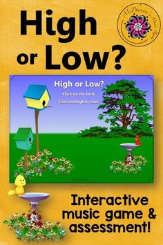 Your elementary music students will fall in love with this interactive music game! Perfect for spring or anytime you are working on high/low and melodic direction! Easy assessment included!
