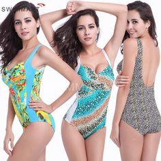 Women Skirted One Piece Swimsuit 2016 New Floral Printed Swimwear Plus Size Bathing Suit Push Up Jumpsuit Ladies Bodysuit