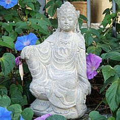 @Overstock - This stone washed statue depicts Quan Yin in the royal pose. Made from volcanic ash, this decorative sculpture will look magnificent in your garden or simply in a special place in your home.   http://www.overstock.com/Worldstock-Fair-Trade/Volcanic-Ash-Stone-Washed-Quan-Yin-Statue-Indonesia/5858824/product.html?CID=214117 $50.99