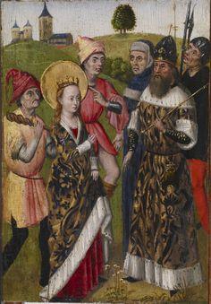 Saint Catherine Confronting the Emperor, Flanders, c. 1480.
