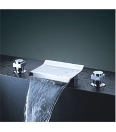 Brand New European Polished Chrome Roman Bath Tub Waterfall Faucet. This faucet's design and style will be an eye catcher. Guaranteed to attract lots of attention. The water flows off the faucet just like a waterfall. All of our faucets are guaranteed to be of the highest quality. Great for home & commercial use!