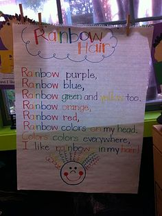 We have been been having so much fun with names over here. We graphed the letters in our names. They had to rainbow write their names, cut, . Kindergarten Poems, Kindergarten Colors, Preschool Colors, Preschool Lessons, Teaching Activities, Color Activities, English Activities, Preschool Education, Preschool Ideas