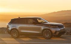 Download wallpapers Range Rover Velar R-Dynamic, 4k, sunset, 2018 cars, SUVs, Range Rover