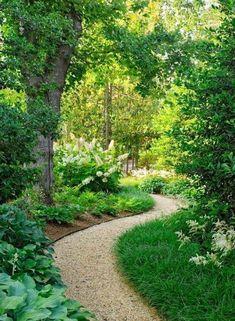 60 Stunning Garden Path and Walkway Landscaping Ideas - garden landscaping Cottage Garden Design, Diy Garden, Shade Garden, Garden Ideas, Garden Web, Garden Cafe, Cottage Gardens, Stone Garden Paths, Garden Stones