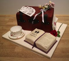 Pride and Prejudice Cake Pride And Prejudice, Gift Wrapping, Baking, Birthday, Cake, Party, Gifts, Food, Wedding Decoration