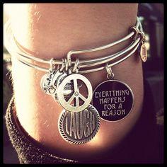 Bijoux – Tendance : I love my Alex and Ani bracelets…… Alex And Ani Bangles, Alex And Ani Jewelry, I Love Jewelry, Jewelry Box, Jewelery, Jewelry Accessories, Geek Jewelry, Gothic Jewelry, Jewelry Necklaces