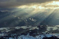 Storm over Bucegi Mountains - Snow storm in Bucegi Massif, Carpathian Mountains