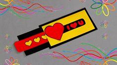 DIY - LOVE SLIDER CARD - TUTORIAL / VALENTINE'S DAY CARD IDEAS / DIY CARD