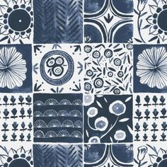 Rae Ritchie - Tea Party - Tablecloth in Denim
