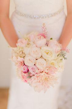 light pink bouquet by isari flower studio http://www.weddingchicks.com/2013/09/26/light-pink-and-gray-wedding/