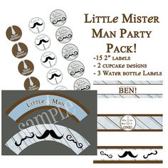 Little Mr. Man Personalized Party Pack $ 15