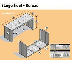 Steigerhout bureau