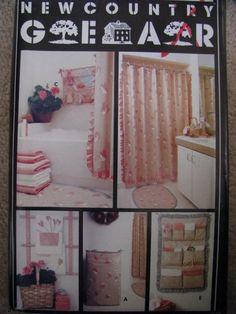 GOT THIS Pattern 6168 Butterick Bath Craft Bathroom Accessories