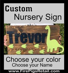 Dinosaur Nursery Sign, Dinosaur bedroom, Boys Nursery Name sign Nursery Name, Nursery Signs, Nursery Wall Art, Nursery Ideas, Room Ideas, Twin Names, Boy Names, Dinosaur Bedroom, Baby Boy Rooms