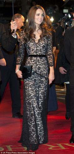 The Duchess of Cambridge donned the Temperley dress
