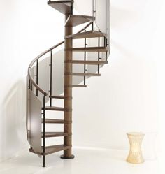 Interior Design Spiral Staircase And Log Spiral Staircase Also Space Saving Staircases For Small Homes Design And White Flooring Ideas An Elegant Brown Spiral Staircase With Solid Wood Flooring For The Minimalist Home