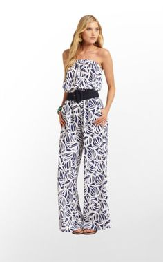 "Farrah Jumpsuit: Bright Navy Need My Shades-Style # 42474--Finally something long enough for me to wear(34"" inseam) :)"