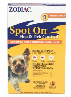 Zodiac Spot on Flea & Tick Control for Dogs Under 15 Pounds, 4-Month Supply - http://www.thepuppy.org/zodiac-spot-on-flea-tick-control-for-dogs-under-15-pounds-4-month-supply/