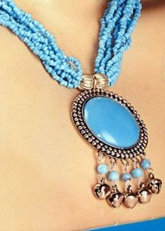 Beeds and Stone Necklace