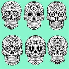 skull pattern - Google-søk