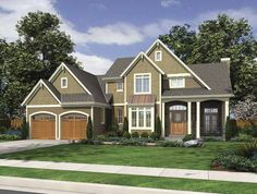 European House Plan with 2234 Square Feet and 4 Bedrooms from Dream Home Source   House Plan Code DHSW67012