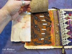 Stitching together a visual narrative using interactive textile art